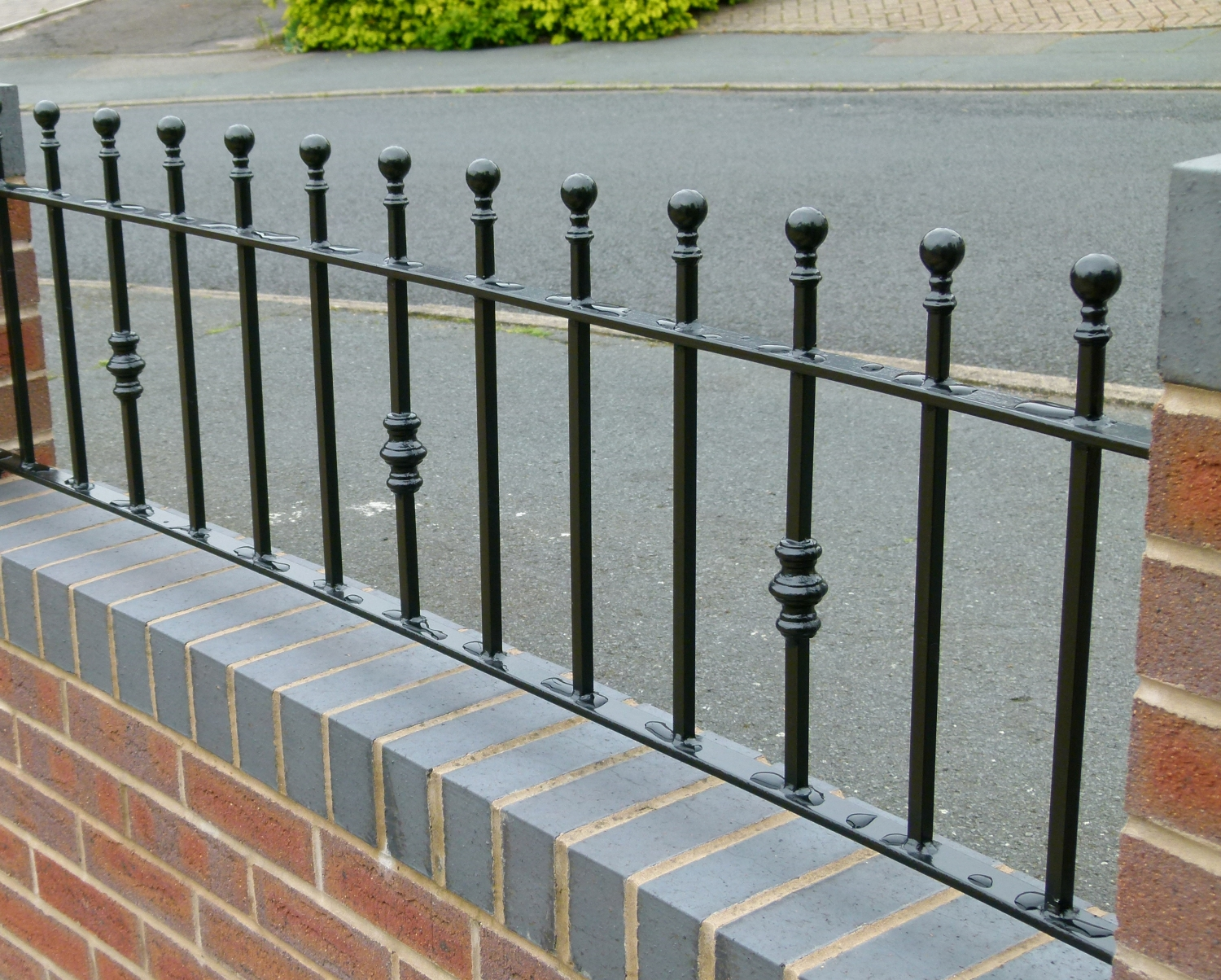 Domestic metal railings wrights fencing and landscaping