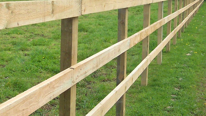 Post and rail fencing wrights landscaping