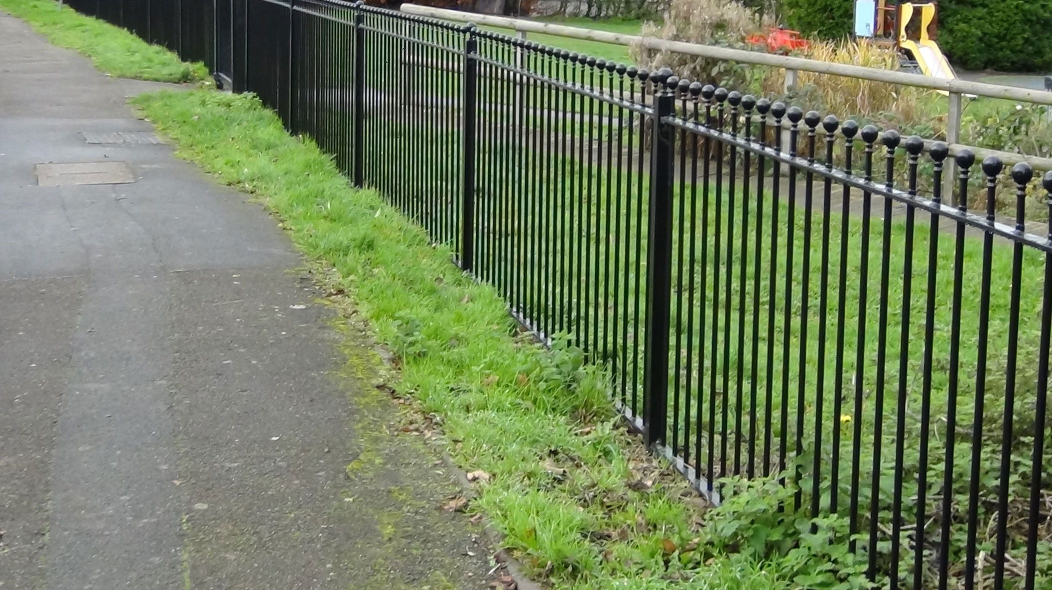 Metal railings wrights fencing and landscaping